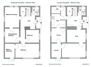 Ground Floorplan - comparison