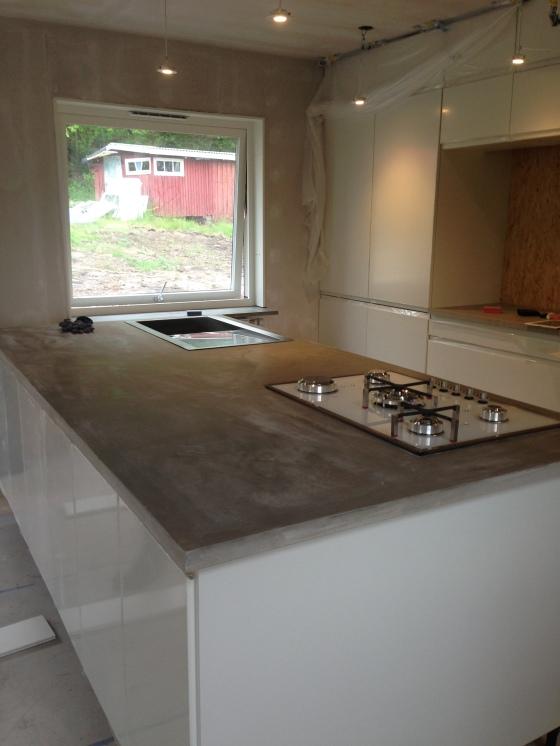 DIY Concrete Benchtop